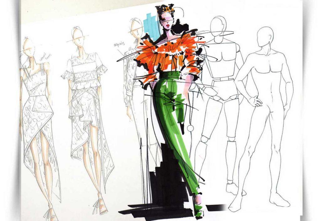 طراحی لباس  و برش پارچه وبرش  لباس