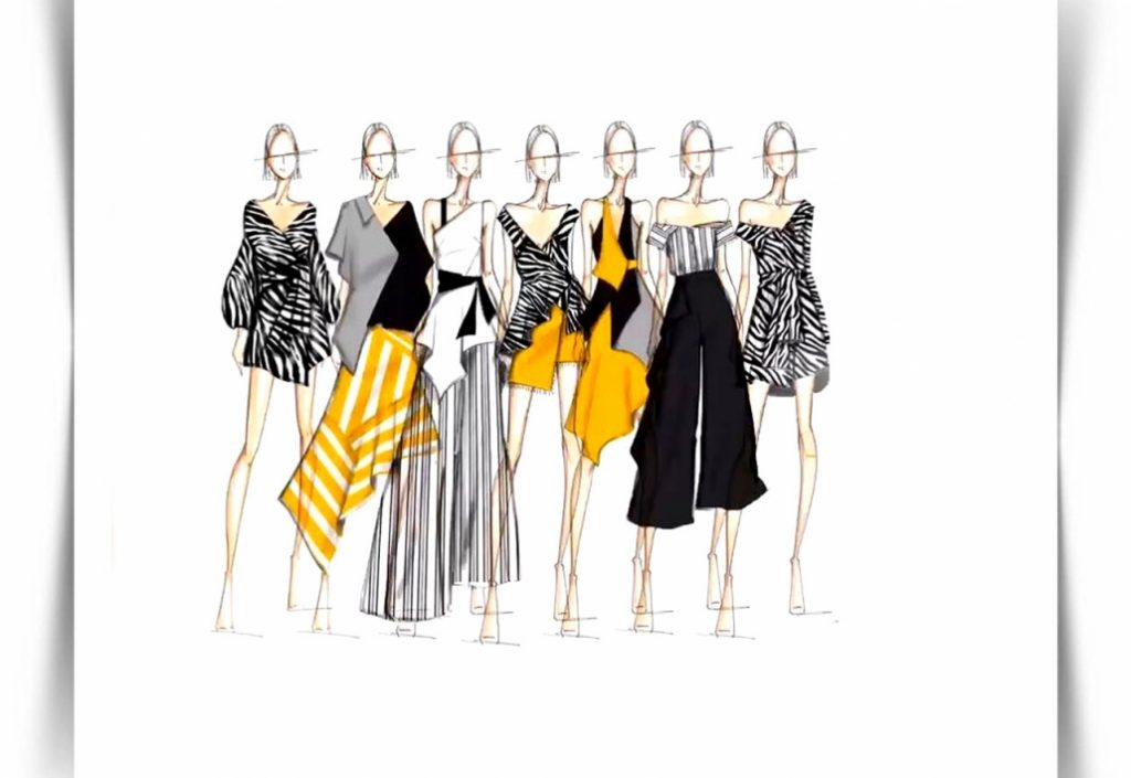 طراحی و برش پارچه و طراحی لباس