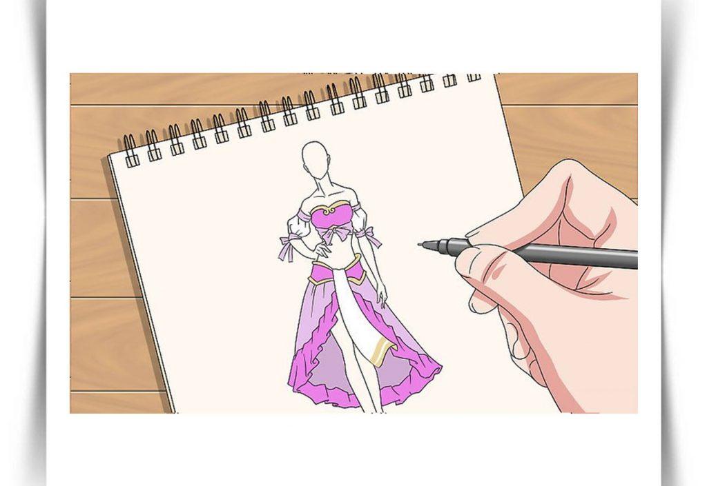 طراحی لباس  و برش پارچه و طراحی لباس